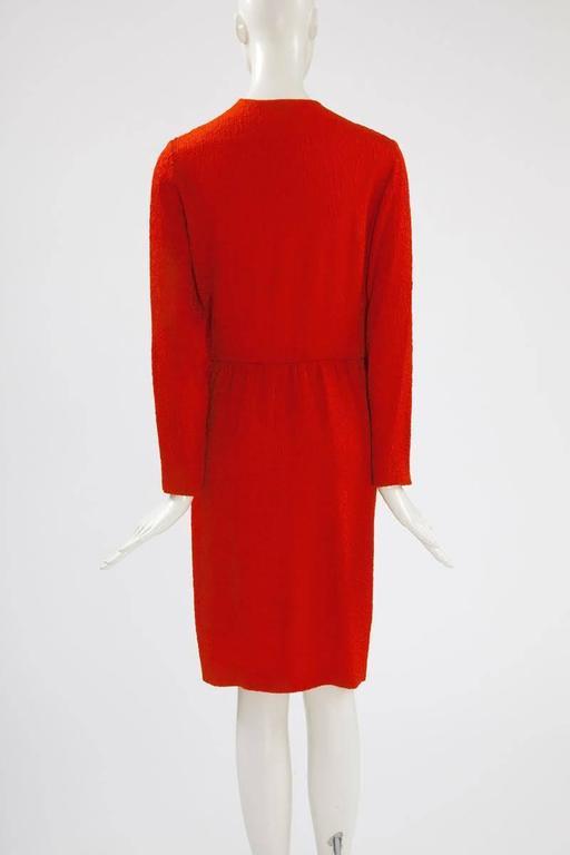 Yves Saint Laurent Blistered Silk Dress 8