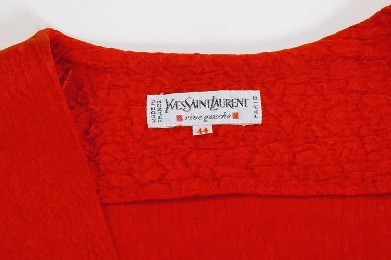 Yves Saint Laurent Blistered Silk Dress 9