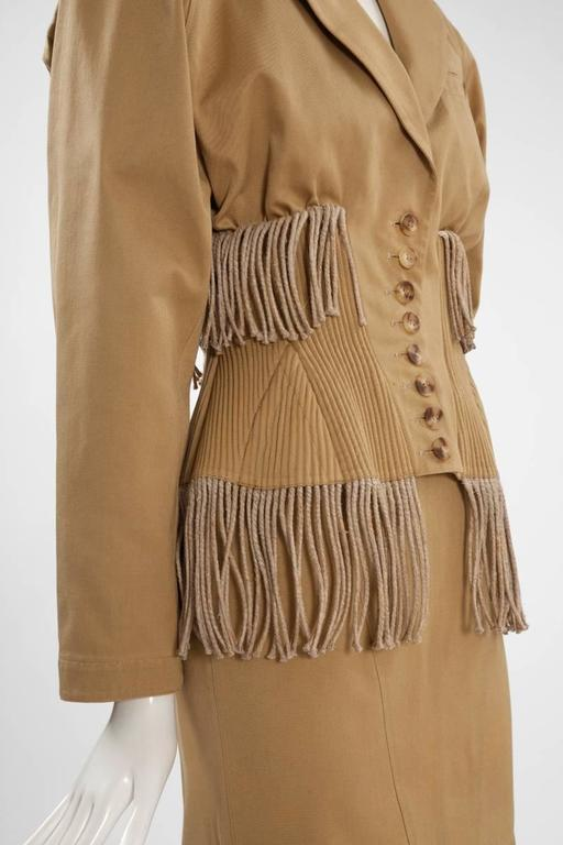 Iconic Alaïa Cord Skirt Suit   In Excellent Condition For Sale In Geneva, CH