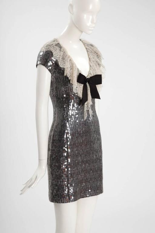 Women's Chanel Sequined Mini Dress For Sale