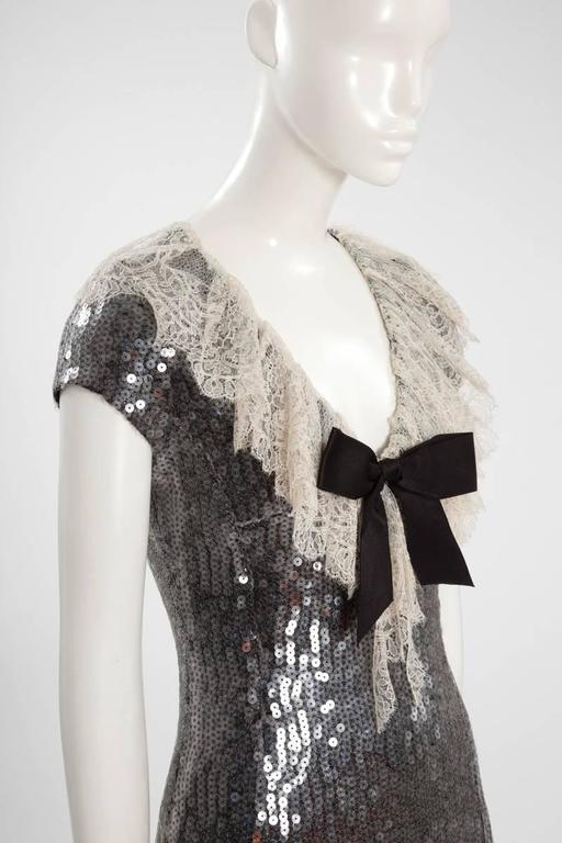 Chanel Sequined Mini Dress For Sale 1
