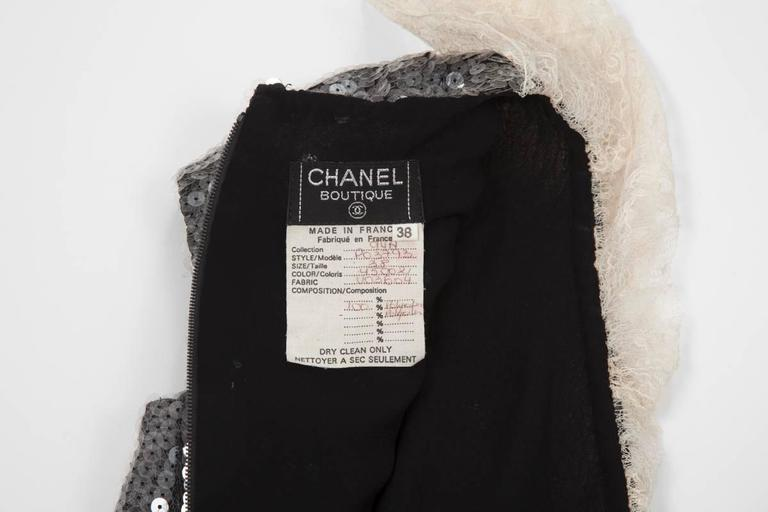 Chanel Sequined Mini Dress For Sale 4