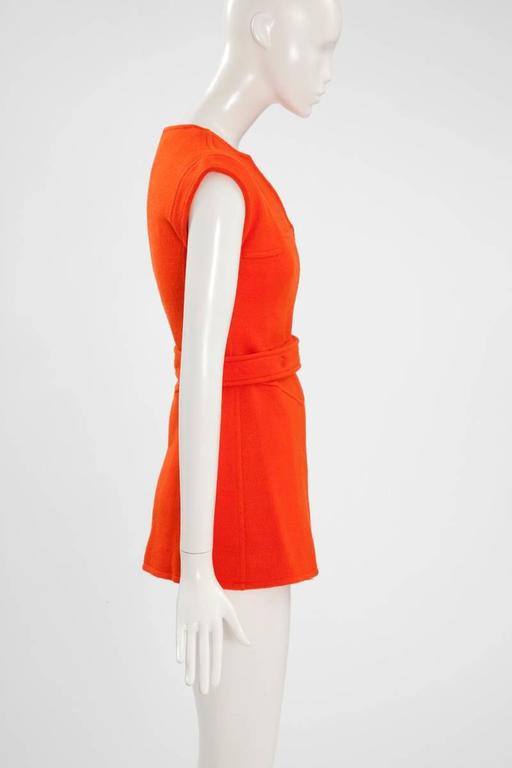 Numbered Courreges Double-Breasted Wool Tunic For Sale 2