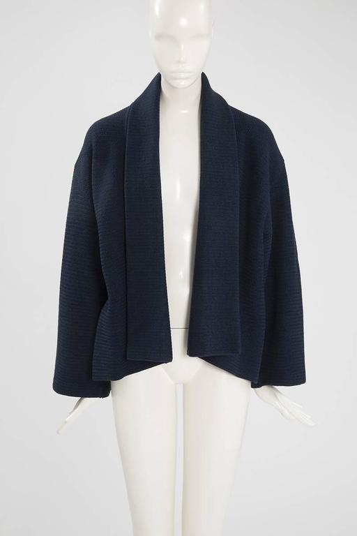 Rare Alaia Wool Knit Belted Kimono Jacket 2