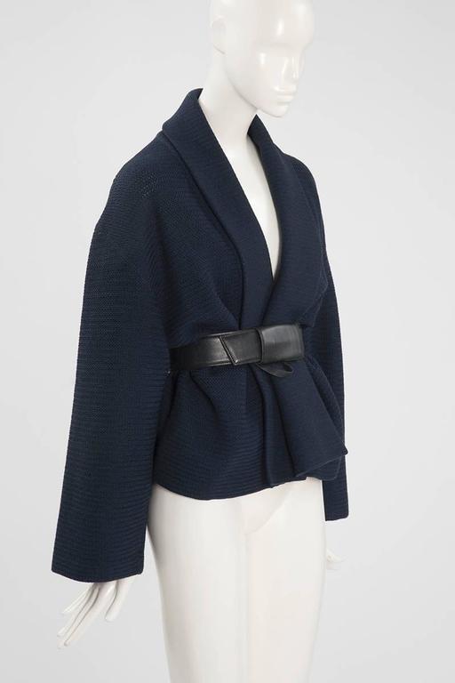 Rare Alaia Wool Knit Belted Kimono Jacket 4