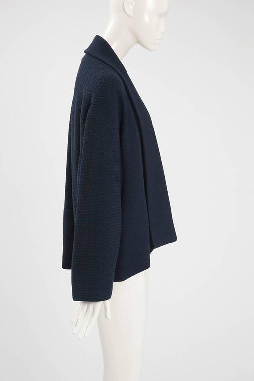 Rare Alaia Wool Knit Belted Kimono Jacket 5