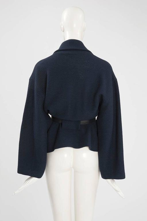 Rare Alaia Wool Knit Belted Kimono Jacket 6