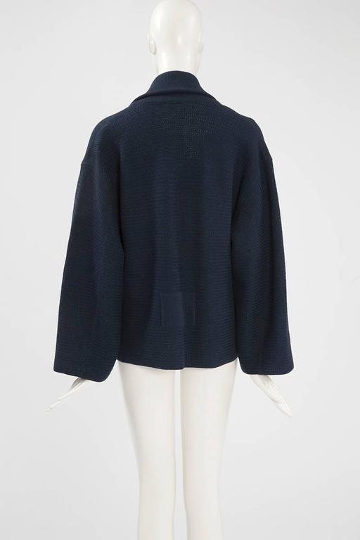 Rare Alaia Wool Knit Belted Kimono Jacket 8