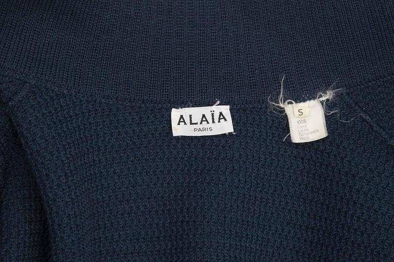 Rare Alaia Wool Knit Belted Kimono Jacket 10