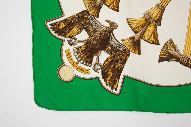 1970 Hermes Scarabees & Pectoraux Silk Twill Carre Scarf  For Sale 1