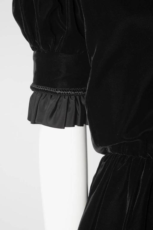 Women's Jean Patou Velvet Dress, Circa 1968  For Sale
