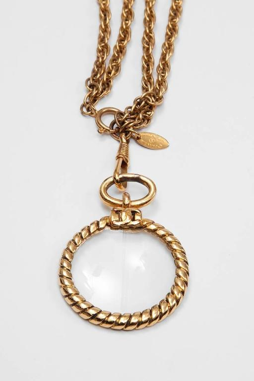 Women's Chanel Magnifying Glass Pendant Sautoir  For Sale