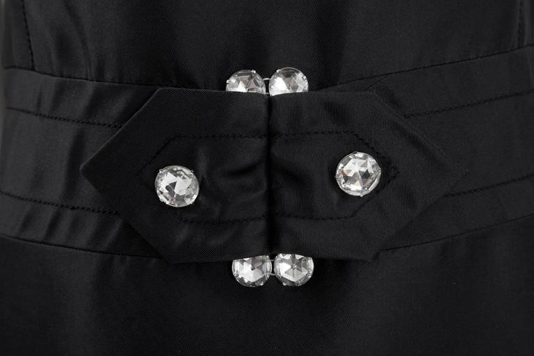 Black Numbered Jean Patou Silk Dress  For Sale