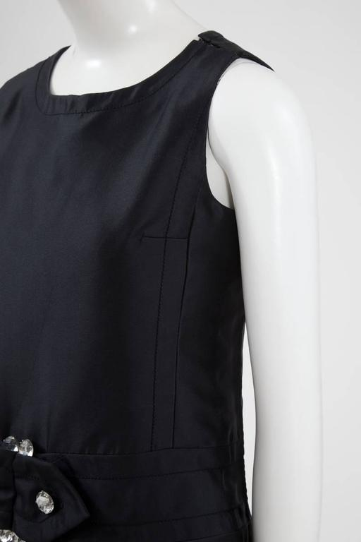 Numbered Jean Patou Silk Dress  In Excellent Condition For Sale In Geneva, CH