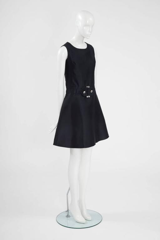 Women's Numbered Jean Patou Silk Dress  For Sale