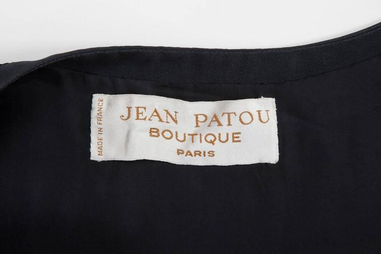 Numbered Jean Patou Silk Dress  For Sale 5