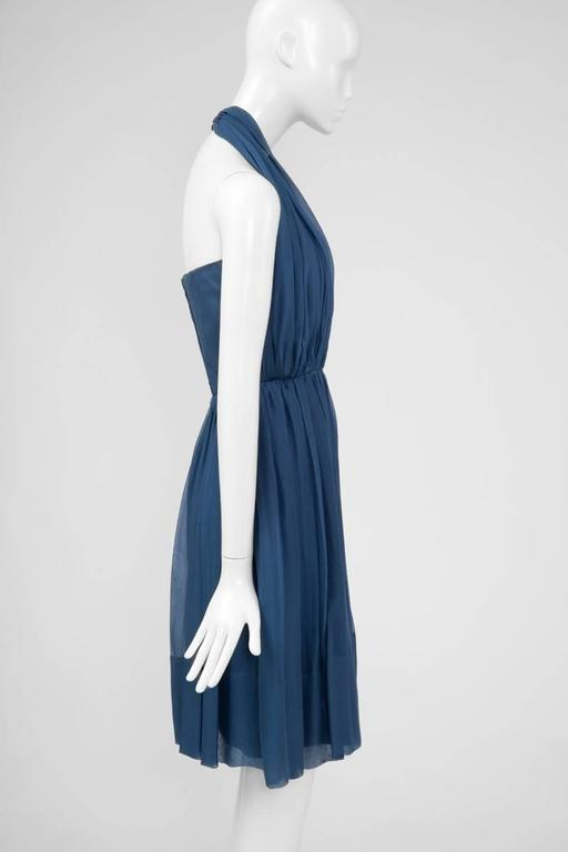 1960's Silk Chiffon Halterneck Dress 5