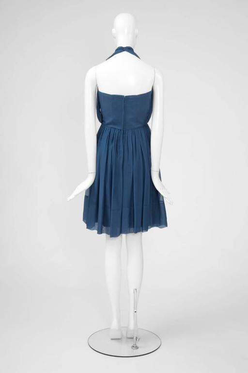 1960's Silk Chiffon Halterneck Dress 6