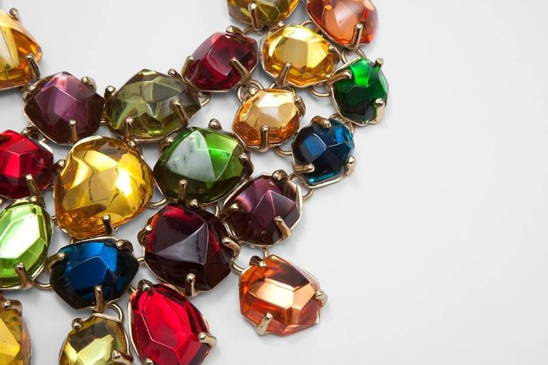 Rare Yves Saint Laurent Giant Chunky Gem Necklace, Circa 1987  In Excellent Condition For Sale In Geneva, CH