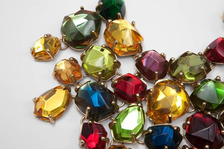 Women's Rare Yves Saint Laurent Giant Chunky Gem Necklace, Circa 1987  For Sale