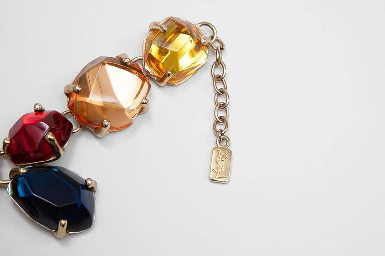 Rare Yves Saint Laurent Giant Chunky Gem Necklace, Circa 1987  For Sale 2
