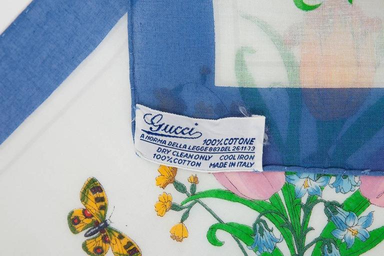 Large Gucci Flora Print Shawl Scarf 6