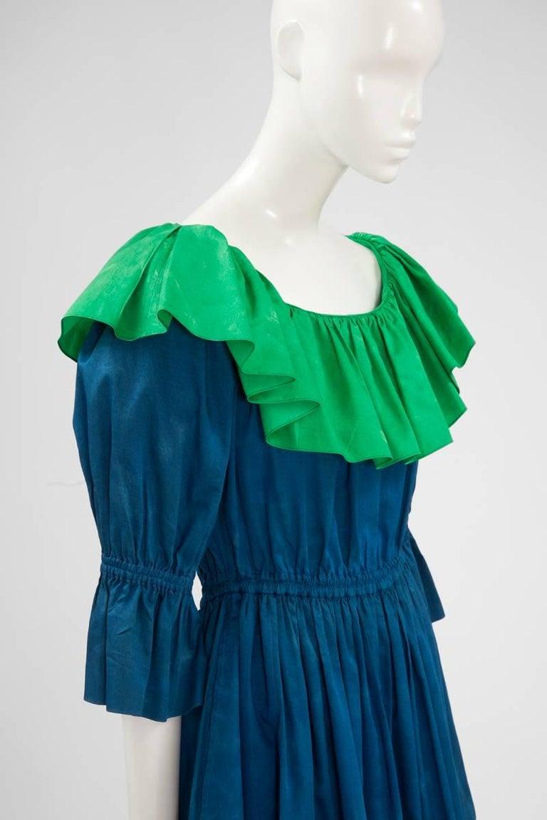 Yves Saint Laurent Colorblock Ruffle Dress 4