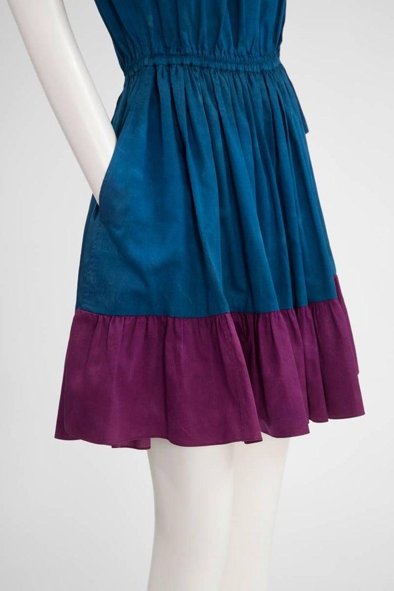 Yves Saint Laurent Colorblock Ruffle Dress 5