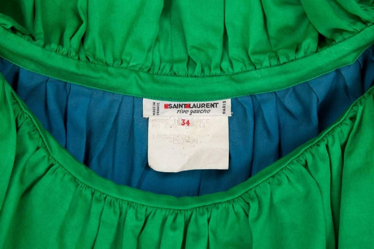 Yves Saint Laurent Colorblock Ruffle Dress 10