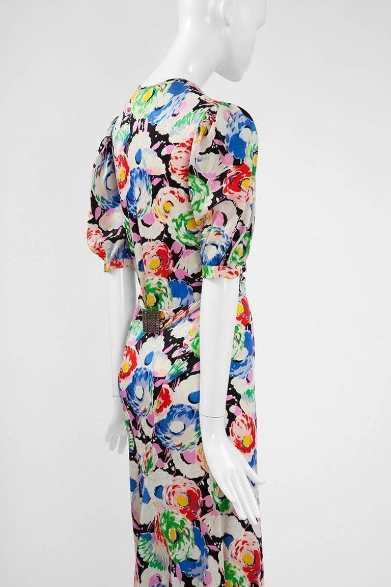 1930's Bias Cut Wrap Evening Dress  For Sale 1