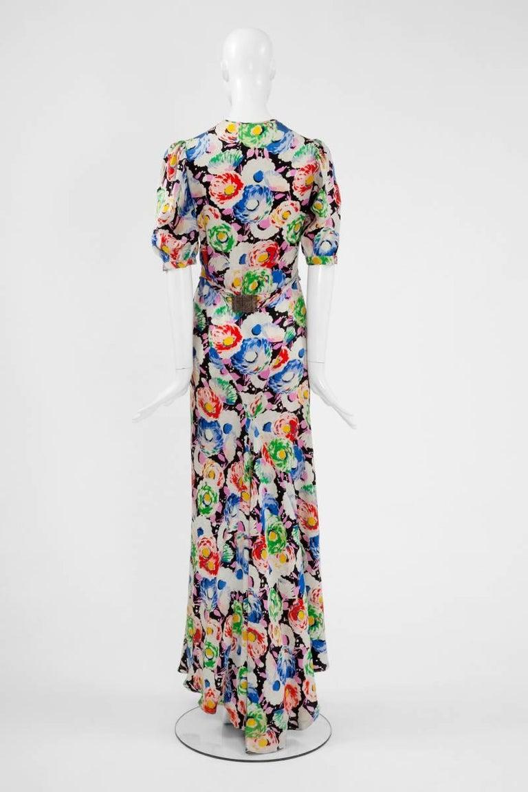 1930's Bias Cut Wrap Evening Dress  For Sale 2