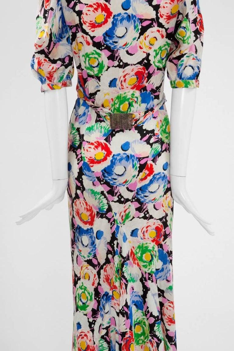 1930's Bias Cut Wrap Evening Dress  For Sale 3