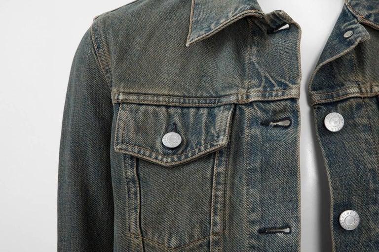 Black Helmut Lang Denim Jacket  For Sale