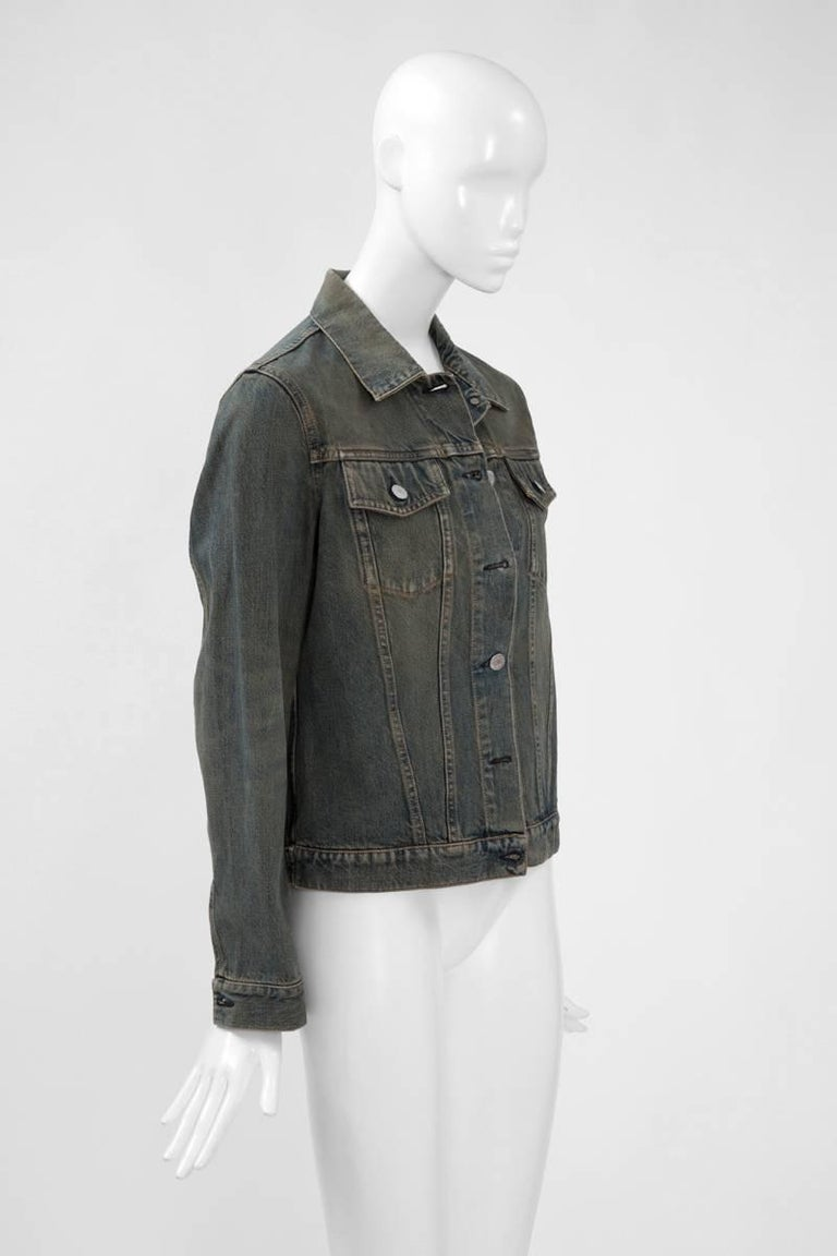 Helmut Lang Denim Jacket  In Excellent Condition For Sale In Geneva, CH