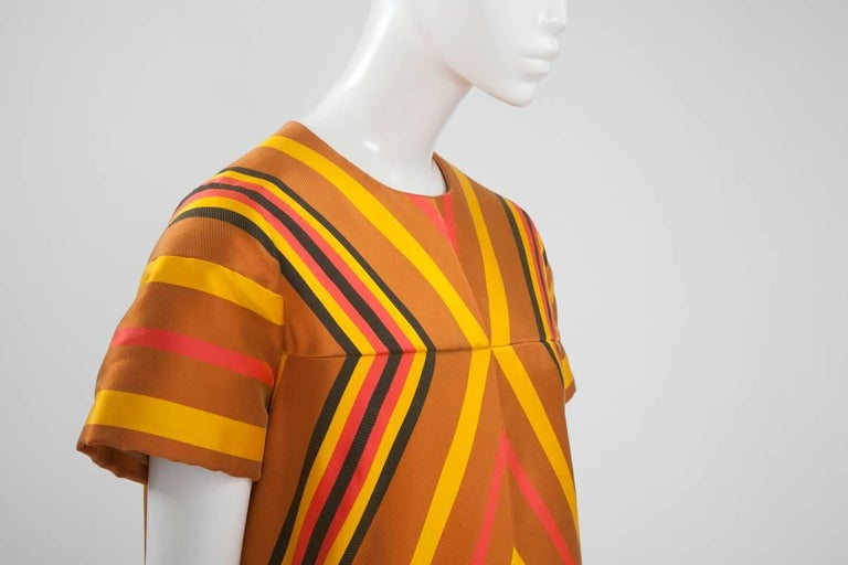 Women's Guy Laroche Haute Couture Silk Dress, Spring-Summer 1967 For Sale