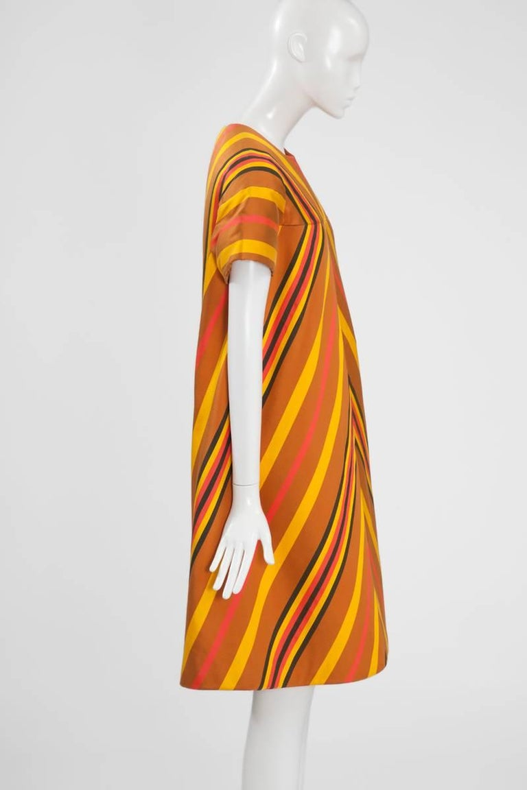 Guy Laroche Haute Couture Silk Dress, Spring-Summer 1967 For Sale 1