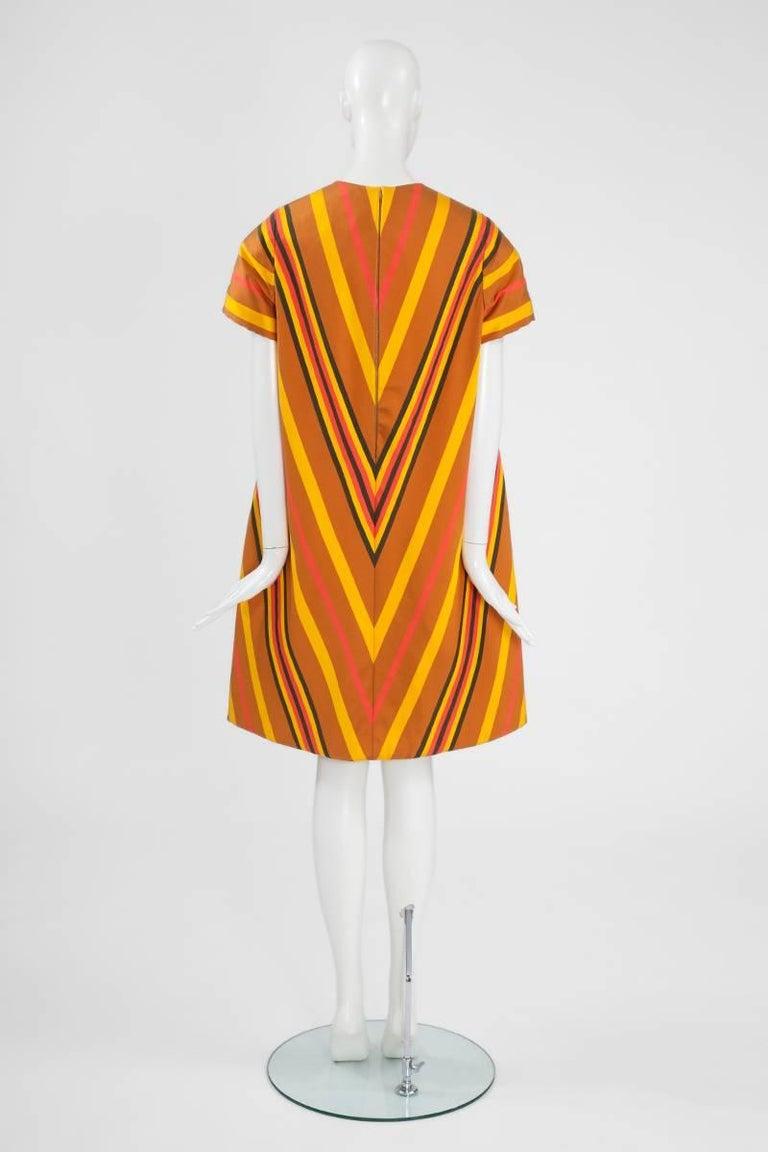 Guy Laroche Haute Couture Silk Dress, Spring-Summer 1967 For Sale 2