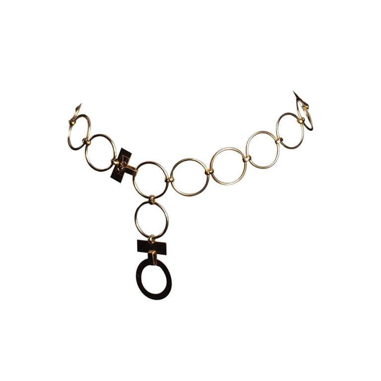 Yves Saint Laurent Chain Belt, Circa 1960