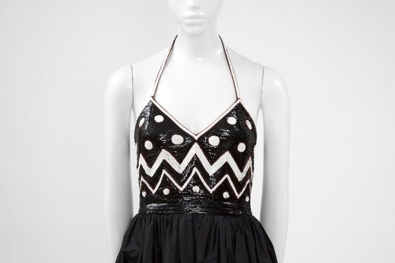 Black Alimia Haute Couture Halterneck Tulle Gown For Sale
