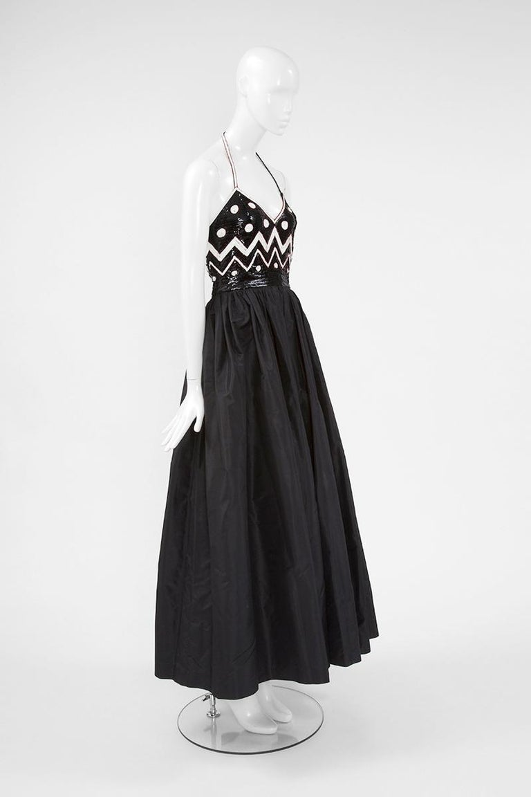 Alimia Haute Couture Halterneck Tulle Gown In Good Condition For Sale In Geneva, CH