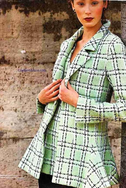 Chanel Tweed Long Jacket, Spring-Summer 1994 For Sale 4