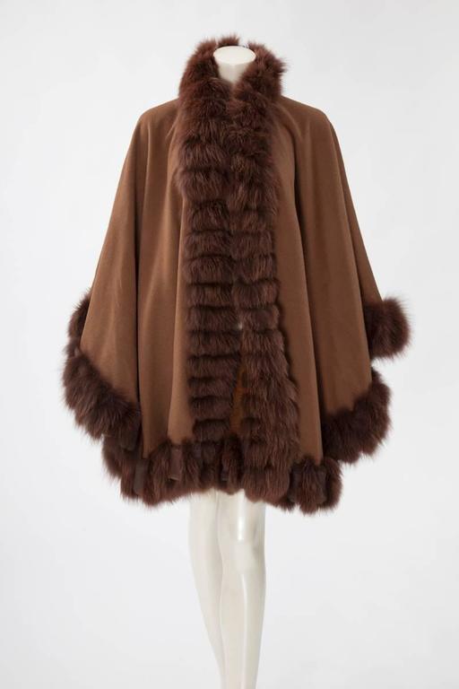 Unworn Sprung Frères Reversible Cashmere & Sable Fur Stole Cape 7