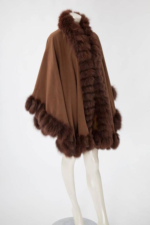 Unworn Sprung Frères Reversible Cashmere & Sable Fur Stole Cape 8