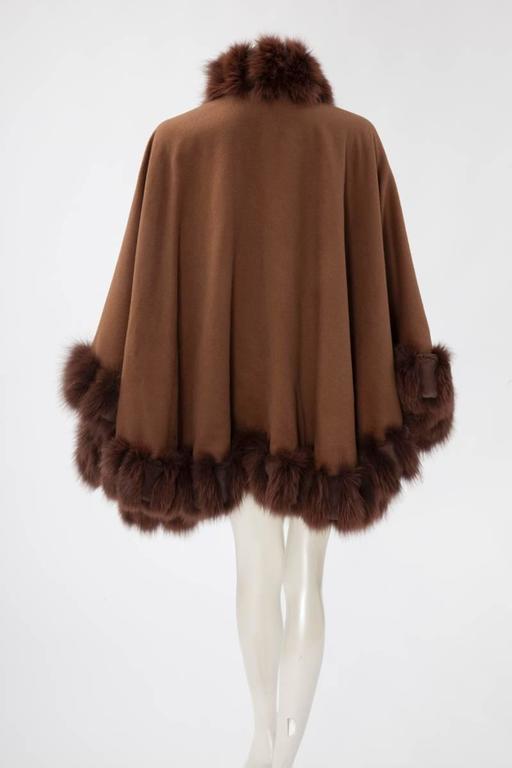 Unworn Sprung Frères Reversible Cashmere & Sable Fur Stole Cape 9