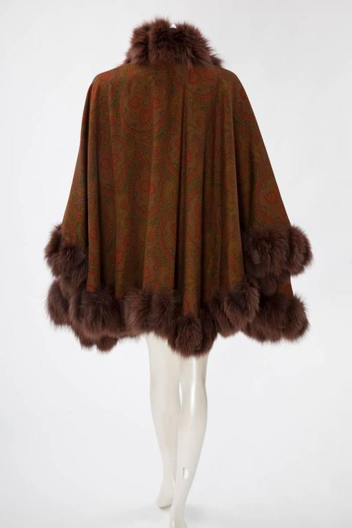 Unworn Sprung Frères Reversible Cashmere & Sable Fur Stole Cape 4