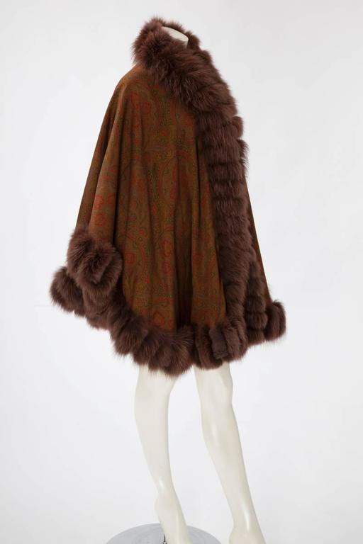 Unworn Sprung Frères Reversible Cashmere & Sable Fur Stole Cape 3