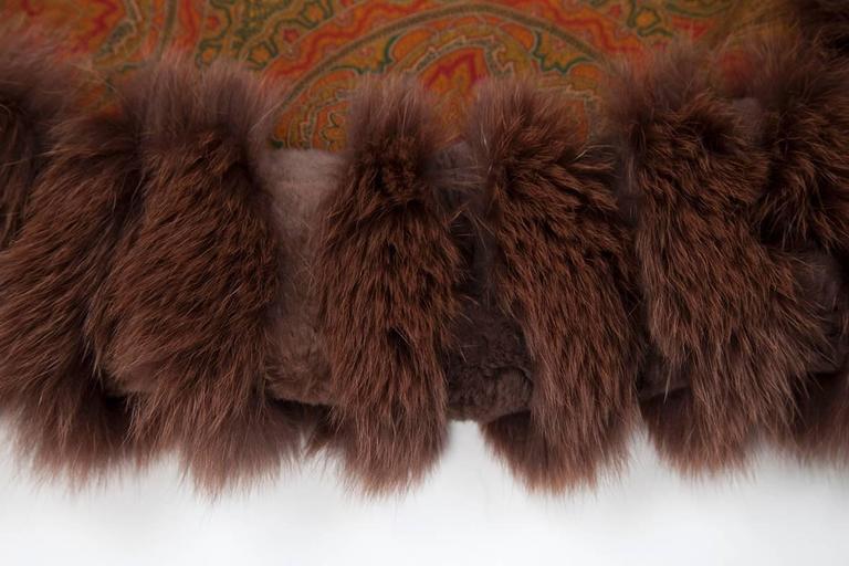 Unworn Sprung Frères Reversible Cashmere & Sable Fur Stole Cape 5