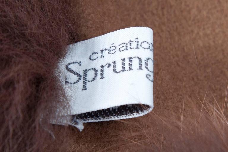 Unworn Sprung Frères Reversible Cashmere & Sable Fur Stole Cape 10