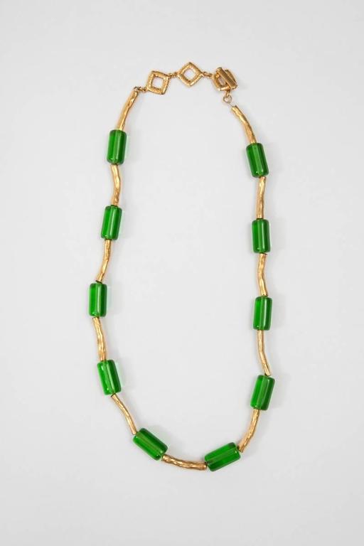 Contemporary Yves Saint Laurent Glass Necklace For Sale