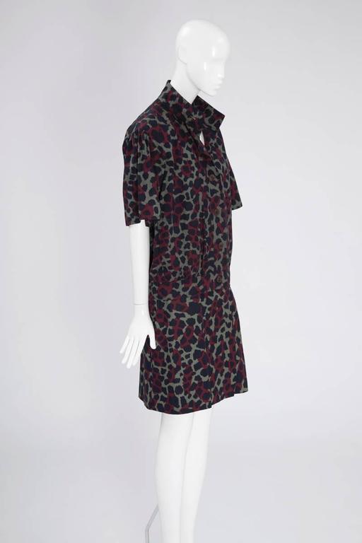 Black Yves Saint Laurent Leopard Skirt Suit For Sale
